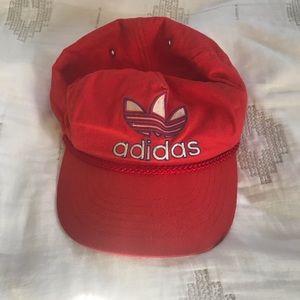 Vintage Adidas Red Rope Snap Back Hat